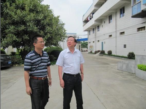 2010.06.04自治区国资委书记尹建国带队到所里指导工作