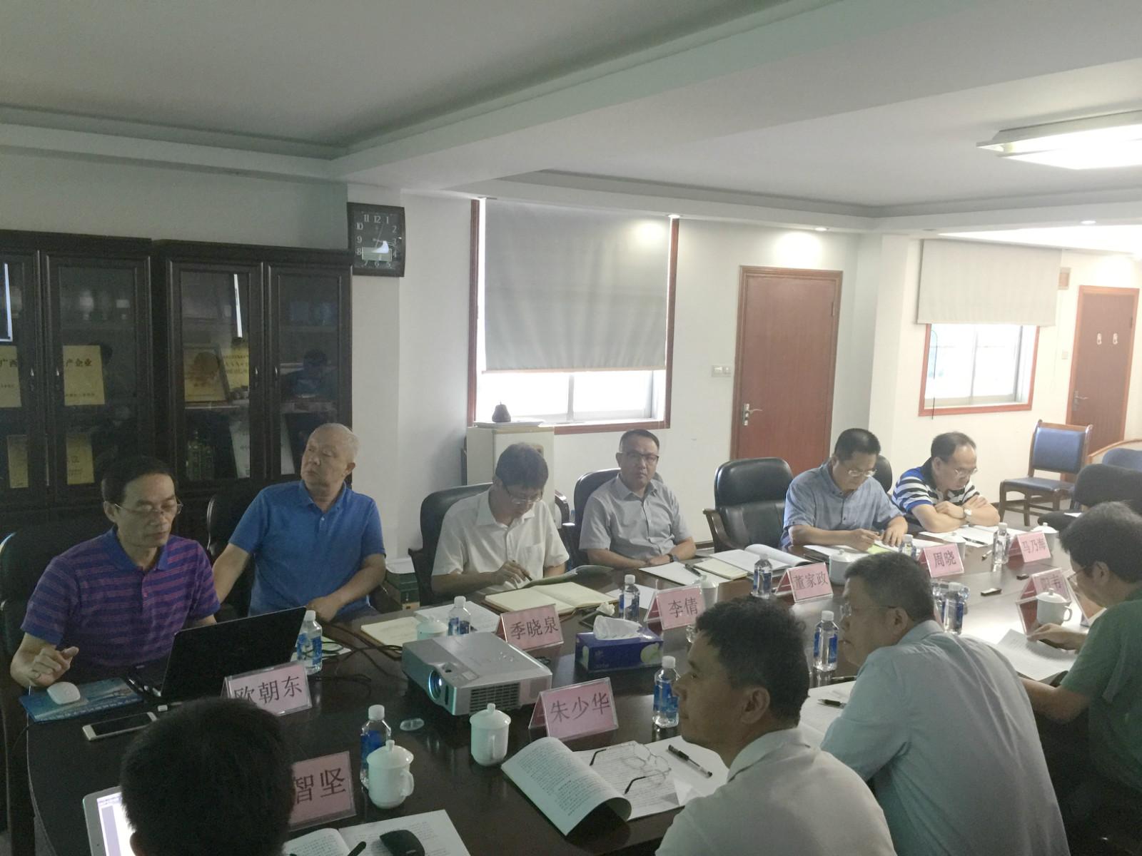 """2017.08.25""""广西粮科大厦""""项目建设开发论证会"""